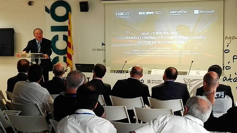 Evento empresarial sobre Automoción con EQM