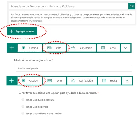 Crear un formulario con Power Automate