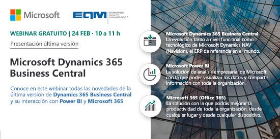Webinar EQM Microsoft Dynamics 365 Business Central