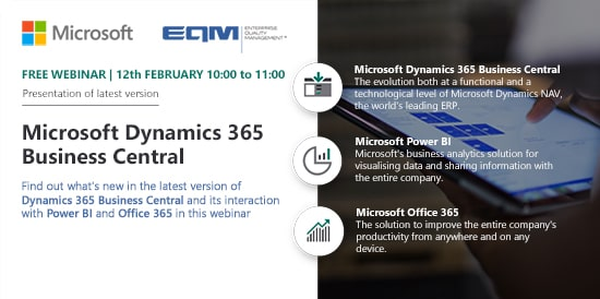 Webinar EQM Microsoft Dynamics 365 Business Central