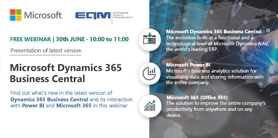 Webinar EQM Dynamics 365 Business Central
