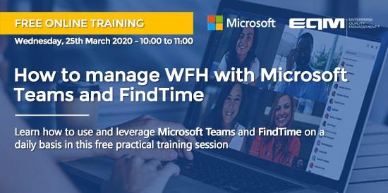 Webinar EQM sobre Microsoft Teams y FindTime