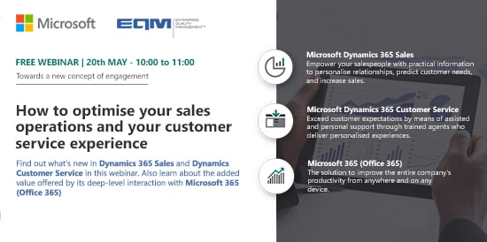 Webinar EQM Dynamics 365 sales y Customer Service