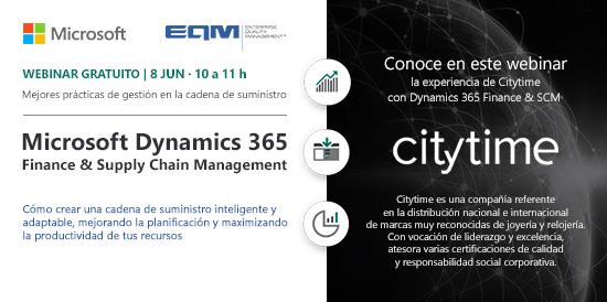 Wbinar Microsoft Dynamics 365 Finance & SCM